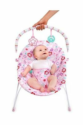 Bright Starts Bouquet Vibrating Pink Bouncer Baby Nursery Chair Rocker Toys