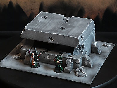 Warhammer 40 000 Bunker + Concrete Obstacles + Anti Tank Obstacles