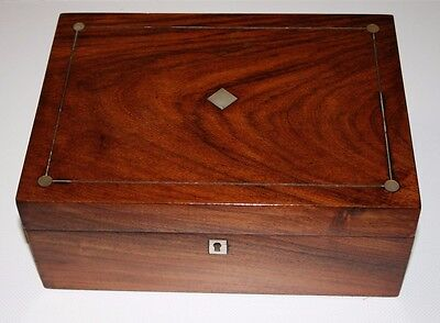 ~Lovely ~Antique ~Inlaid ~Mother of Pearl ~Box ~Removable Tray ~VGC~