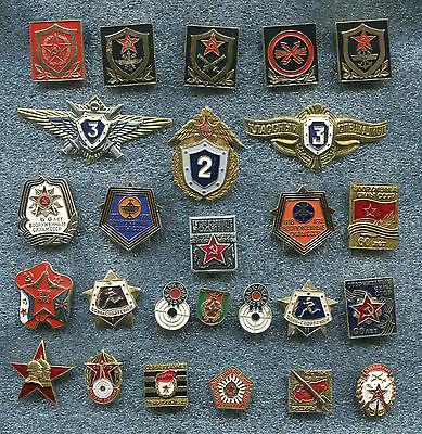 Russia Soviet Era and New 28 Military Badges Patches
