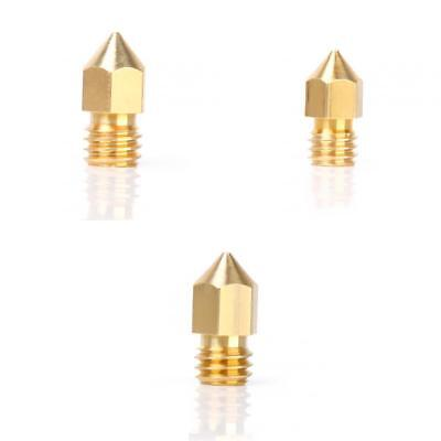 3pcs 0.3+0.4+0.5mm Copper Extruder Nozzle Adapter for 3D Printer