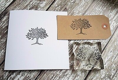 Tree stamp ideal for gift tags and wedding
