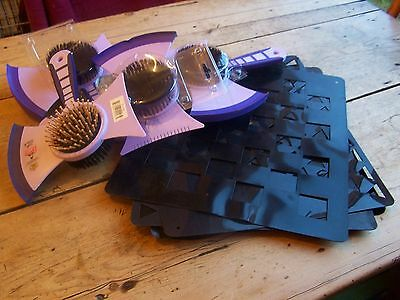 Job Lot Of Grooming Items *4 In One Brushes * Quarter Marker Stencils * 9 Items