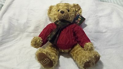 Harrods Footdated Christmas Bear - Nicolas - 2005 - 13 inches seated