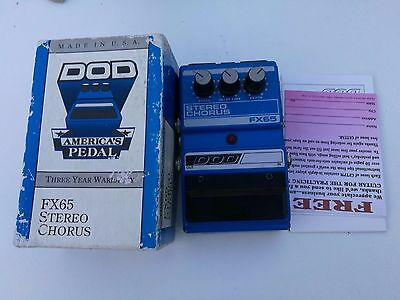 DOD FX65 STEREO CHORUS w/ BOX & PAPERS - FREE NEXT DAY DELIVERY IN THE UK