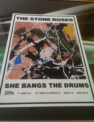 "The Stone Roses ""she bangs the drums""  A3 print super quality300 gsm art paper"