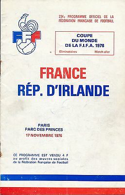 France v Republic of Ireland (World Cup Qualifier) 1976
