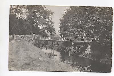 Real Photo Postcard Bridge Over River Unknown County Countryside Location