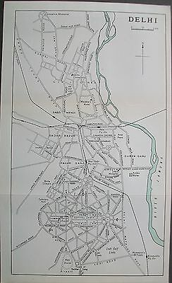1959 India Delhi Town City Plan Murrays Map Streets Stations Capital City