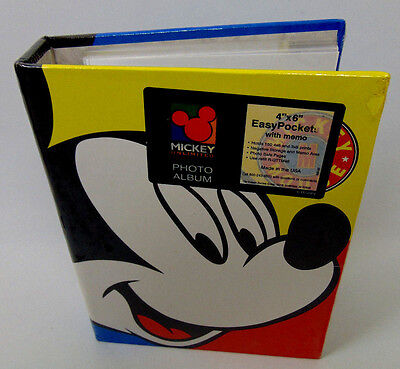 "New Disney MICKEY Mouse UNLIMITED 4"" x 6"" Easy Pockets 150 ct. Memo Photo Album"
