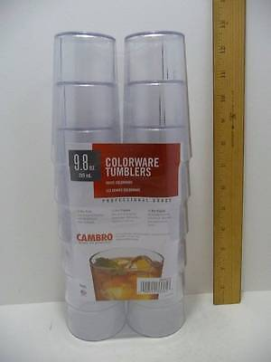 Cambro Restaurant Glasses Tumblers 9.8oz.Clear Professional Grade Pkg.12 Glasses