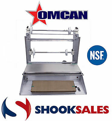 """Omcan 14431 Commercial Stainless Steel Food WRAPPING MACHINE Three Roll 18"""" NSF"""