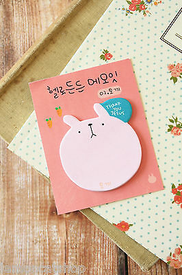 THANK YOU Cute BIG Animal FACE Sticky Notes cartoon shapes planner note memo pad