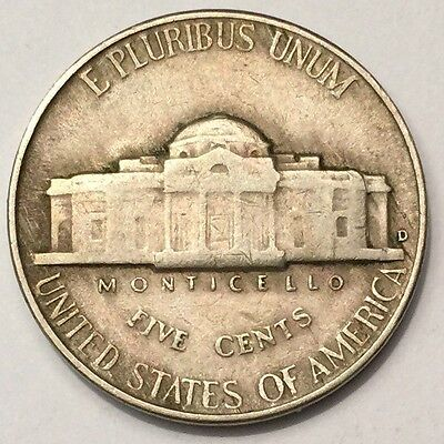 1946-D U.S.A Jefferson Nickel 5 Cents coin