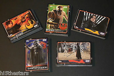 Topps Disney Star Wars Rogue One - FULL SET of 160 Trading cards (#1 to #160)