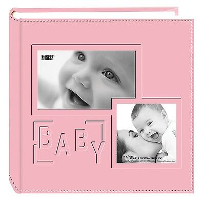 """Pioneer Photo Albums 200-Pocket Embossed """"Baby"""" Leatherette Frame Cover A... NEW"""