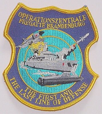"Aufnäher Patch Fregatte ""Brandenburg"" F215 Operationszentrale ..........A4278"