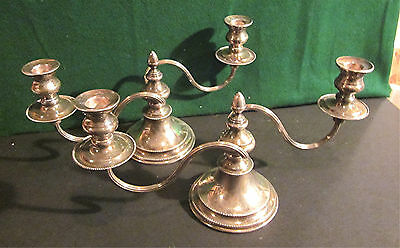Vintage Sheffield Viners Silverplate Candleabras *Lot of 2*
