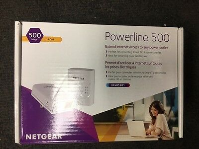 Netgear Powerline 500 (Up to 500 Mbps) XAVB5201-100PAS Ethernet Adapter Kit