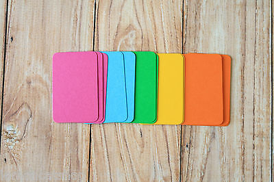 Vibrant Colours MINI Business Cards 50pc blank DIY escort cards craft name cards