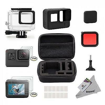 25 in 1 GoPro Hero Camera Accessories 5 Accessory Kit - Shockproof Small Case