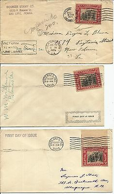 6 oldies  CHECK DATES - 5 are FDOI  rare group see all scans