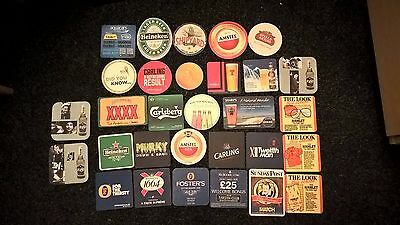 Collection Of 24 Various Beer Mats In Good Condition. Collectable - See Info.