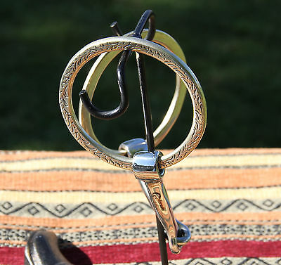 """Colorado Saddlery Engraved Loose Ring Stainless Snaffle 4-3/4"""" Mouth NOS"""