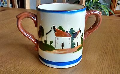 Vintage Motto Ware Watcombe Two Handled Loving Cup