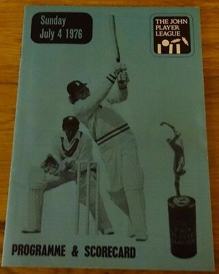 Yorkshire CCC v Sussex CCC John Player League, 4 July 1976
