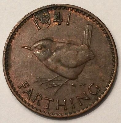 1941 George VI Farthing coin