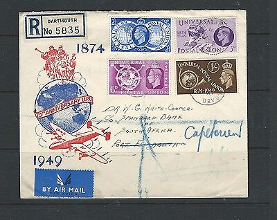 1949 Gb Kg V1  Excellent First Day Cover - Universal Postal Union (1)
