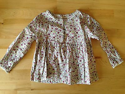 Baby Girl A L'Heure Anglais Long Sleeve Blouse Top Age 12-18 Months Pink Floral