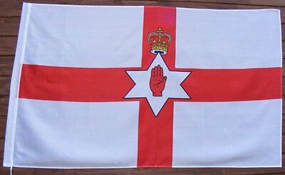 GIANT Northern Ireland Flag Red Hand of Ulster  5ftx3ft, (new),