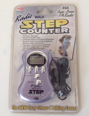 Pedometer Step Counter With FM RADIO New In Pack -Ideal Stocking Filler Gift