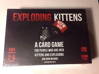 Exploding Kittens Card Board Game NSFW Deck Version Party BNIB New