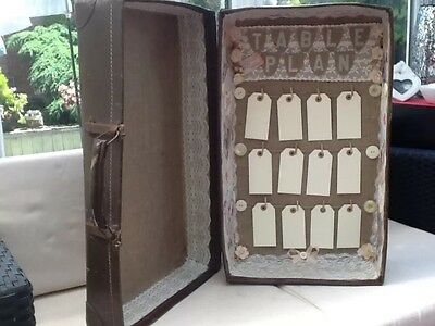 Vintage Shabby Chic Suitcase Wedding Table Seating Plan - Unique