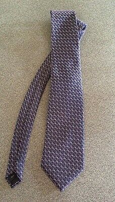 Milano Silk Patterned Men's Tie Blue And Pink
