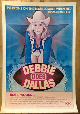 DEBBIE DOES DALLAS 1978 Original US One Sheet Movie Poster Bambi Woods Porn Film