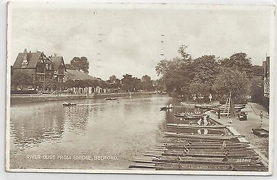1940s Postcard – River Ouse from Bridge, Bedford