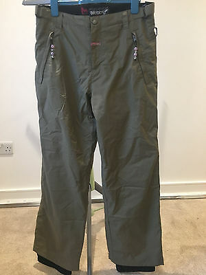 Womens khaki Billabong Ski Pants, size 10/12