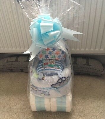 Baby Boy Nappy Cake Ideal Baby Shower Or New Baby Gift