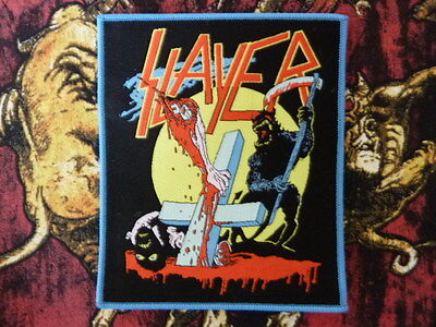 slayer the reaper woven Patch / aufnäher Thrash Metal Rare! red rim