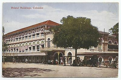 POSTCARD-CEYLON-PTD. Bristol Buildings, Colombo.