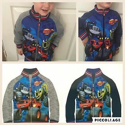 OFFICIAL BLAZE AND THE MONSTER MACHINE HOODIE ZIPPER JACKET 3-4YRS boys clothes