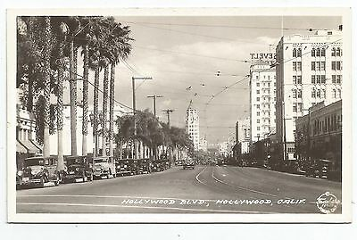 POSTCARD-UNITED STATES-LOS ANGELES-RP. Hollywood Boulevard.