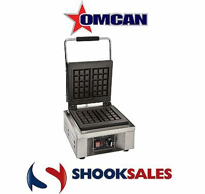 Omcan 39578 Commercial Restaurant heavy duty Cast iron Single Waffle Maker Fast