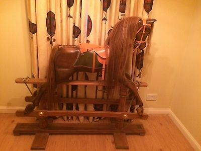 Large Traditional Wooden Rocking Horse - Vintage Style - Excellent Condition