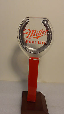 Vintage Miller High Life Horseshoe Rare Tap Handle 8""