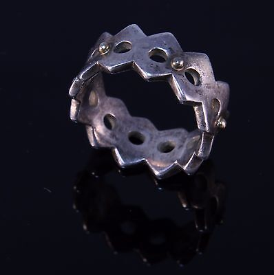 Sterling Silver 14k Gold Fragments Ring Retired Pandora Ale